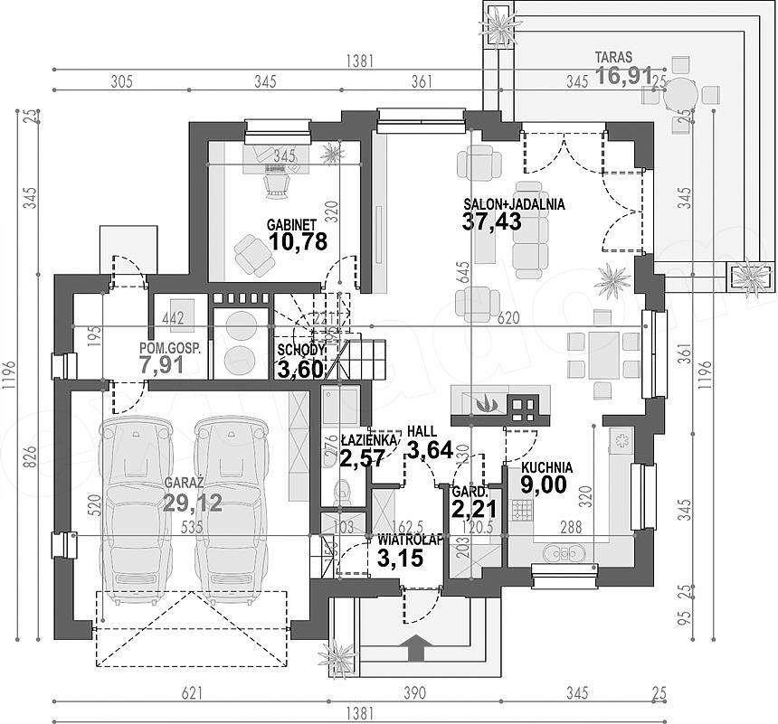 Projekt Domu Opałek Ii N 2g E Projektypl