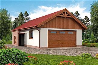 Projekt Domu G99 Garaż Dwustanowiskowy Z Pomieszczeniem Gospodarczym