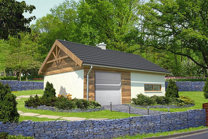 Projekt Domu Murator Gc70 Garaż Z Pomieszczeniem Gospodarczym