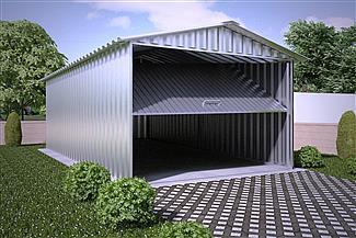 Projekt Domu Gb35 Garaż Blaszany Jednostanowiskowy Z Pomieszczeniem