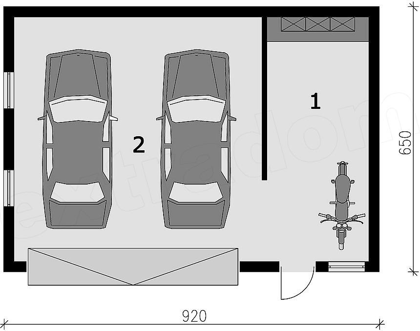Projekt Domu G296 Garaż Dwustanowiskowy Z Pomieszczeniem